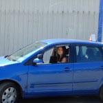 Мотодром мотошколы г. Минск, ул. Харьковская, д. 88. Диагональная парковка. Упражнение отрабатывается на автомобиле мотошколы.