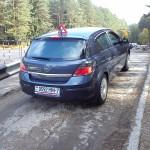 Автомобиль автоинструктора Еверкина Якова Михайловича - вид сзади