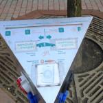 Электрозаправка на стоянке возле парка Чалюскинцев