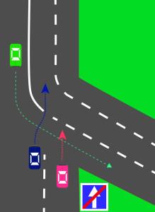 Проезд сложных перекрестков в картинках. Рис.4