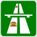 На скоростном шоссе вождение