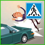 Сбил пешехода на пешеходном переходе?
