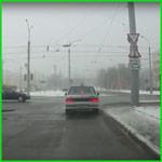 Движение на перекрестке из ГАИ