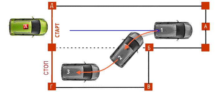 Диагональная парковка