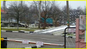 Две эстакады на автодроме ГАИ Семашко 17, где вам придется сдавать экзамен.