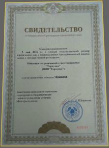 Свидетельство о государственной регистрации автошколы