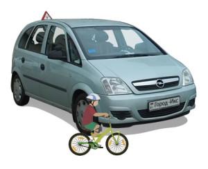 Почему иногда не видно велосипедиста на дороге?